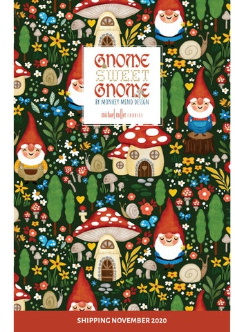 Michael Miller Fabrics | Gnome Sweet Gnome By Monkey Mind Design