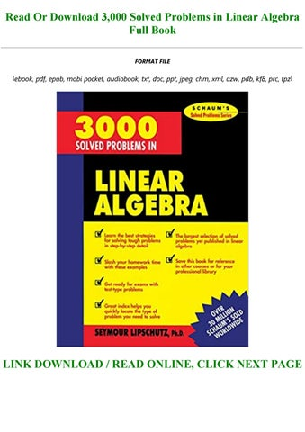 3000 solved problems in linear algebra pdf free download