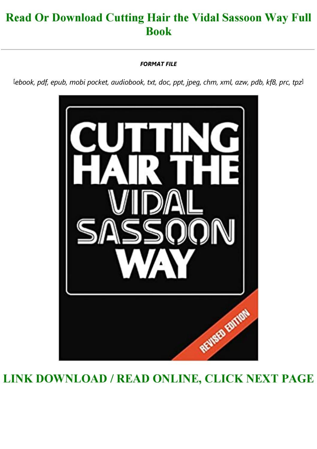 Read Book [PDF] Cutting Hair the Vidal Sassoon Way Full PDF Online