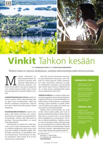 Page 70 of Vinkit Tahkon kesään