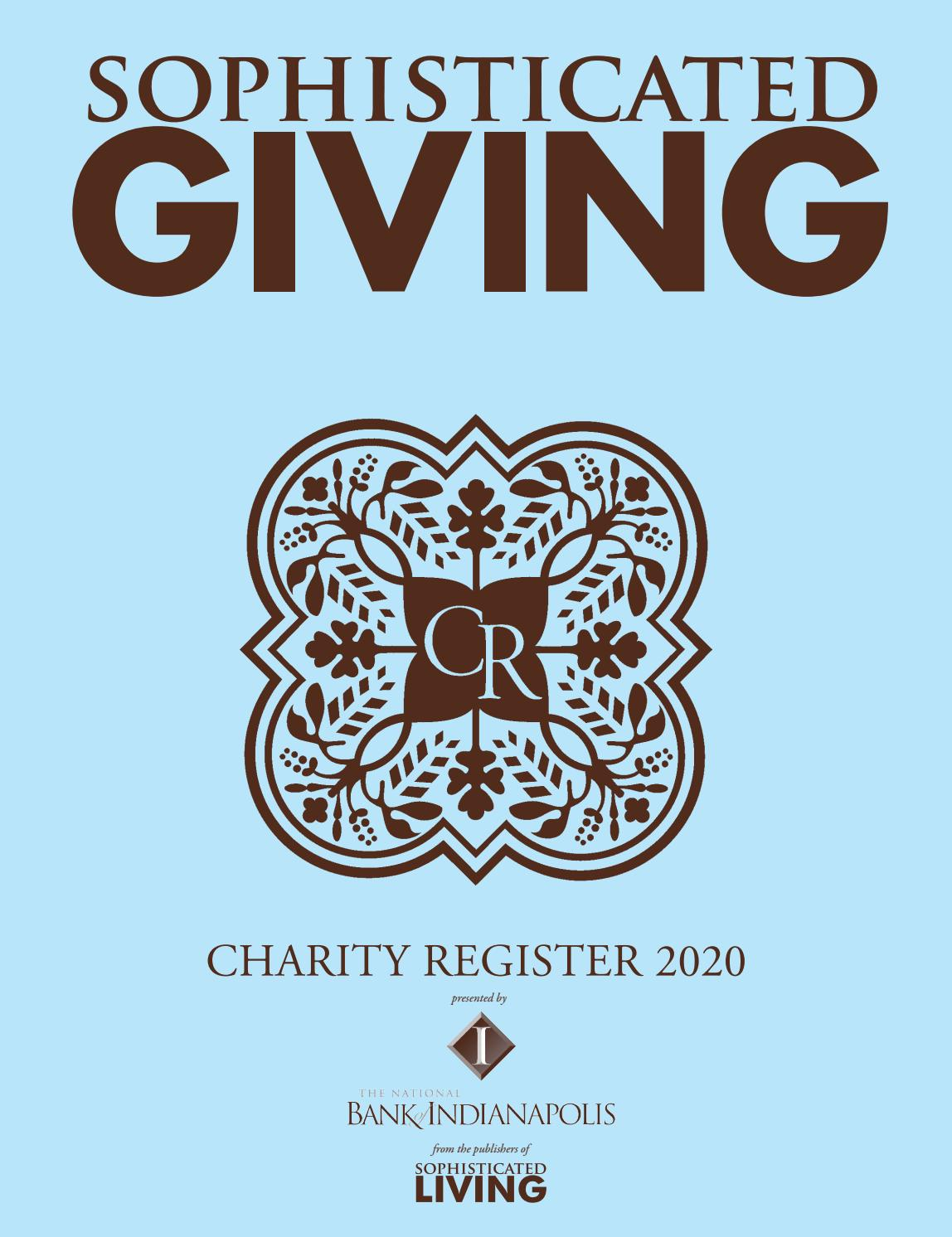 Sophisticated Giving Charity Register Indianapolis 2020 By