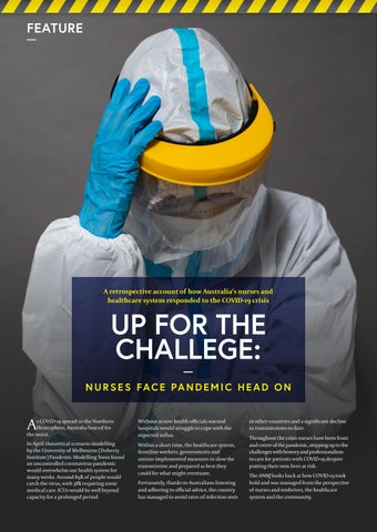 Page 12 of UP FOR THE CHALLENGE: Nurses face pandemic head on