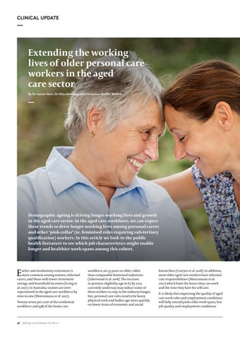 Page 38 of Extending the working lives of older personal care workers in the aged care sector