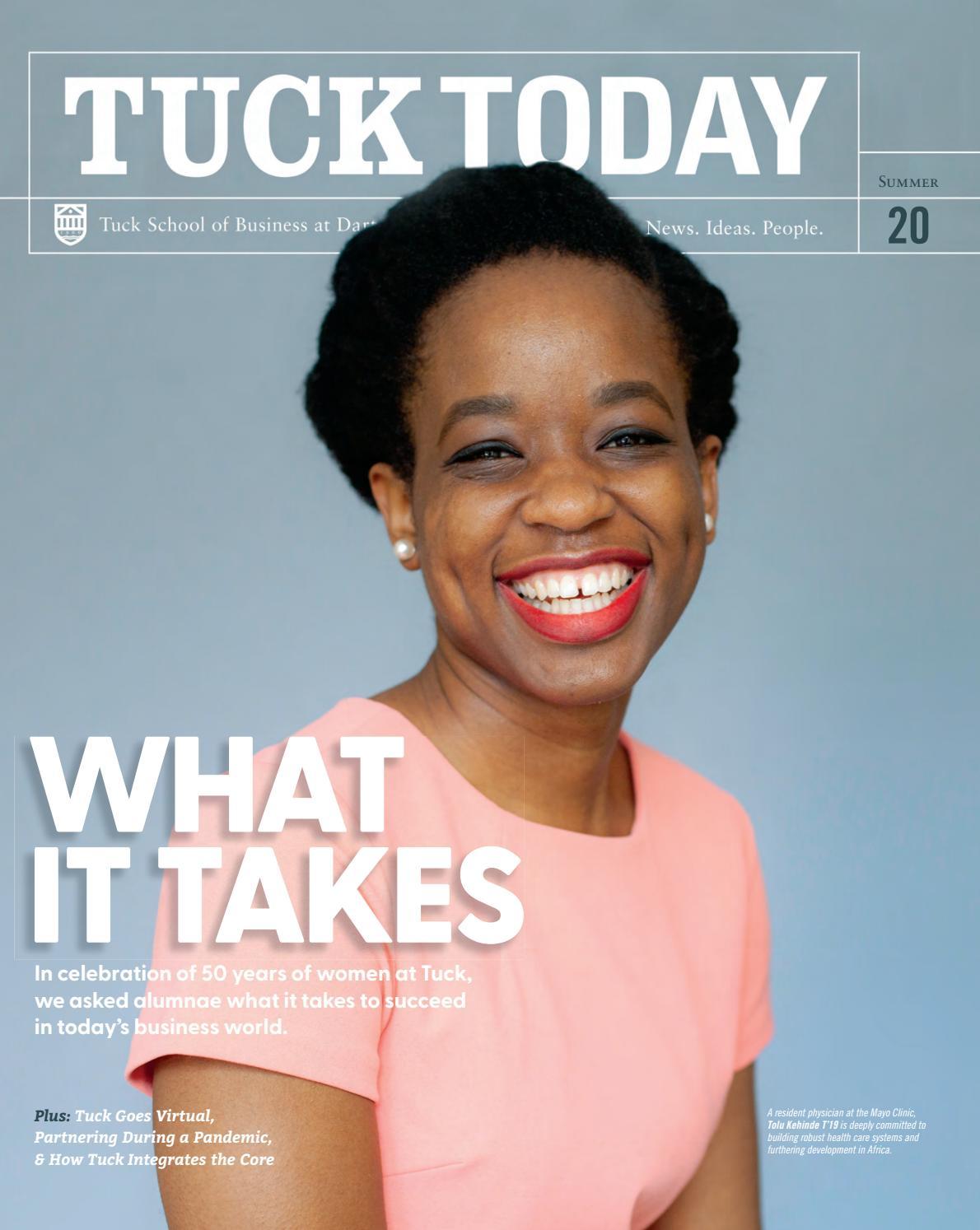 tuck today alumni magazine summer 2020tuck school of