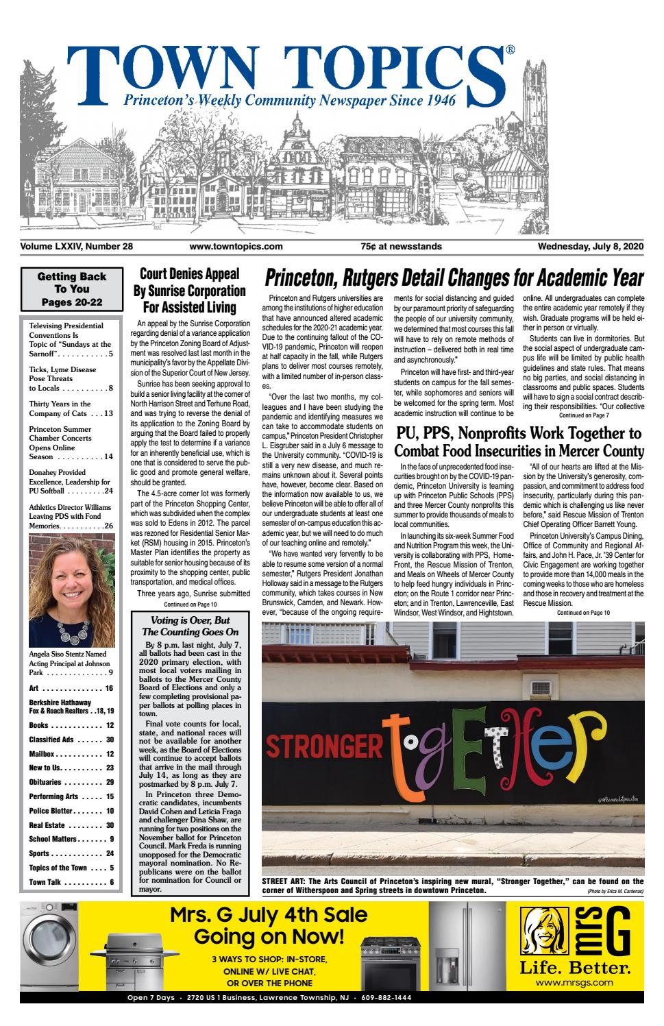 Town Topics Newspaper July 8 2020 By Witherspoon Media Group Issuu