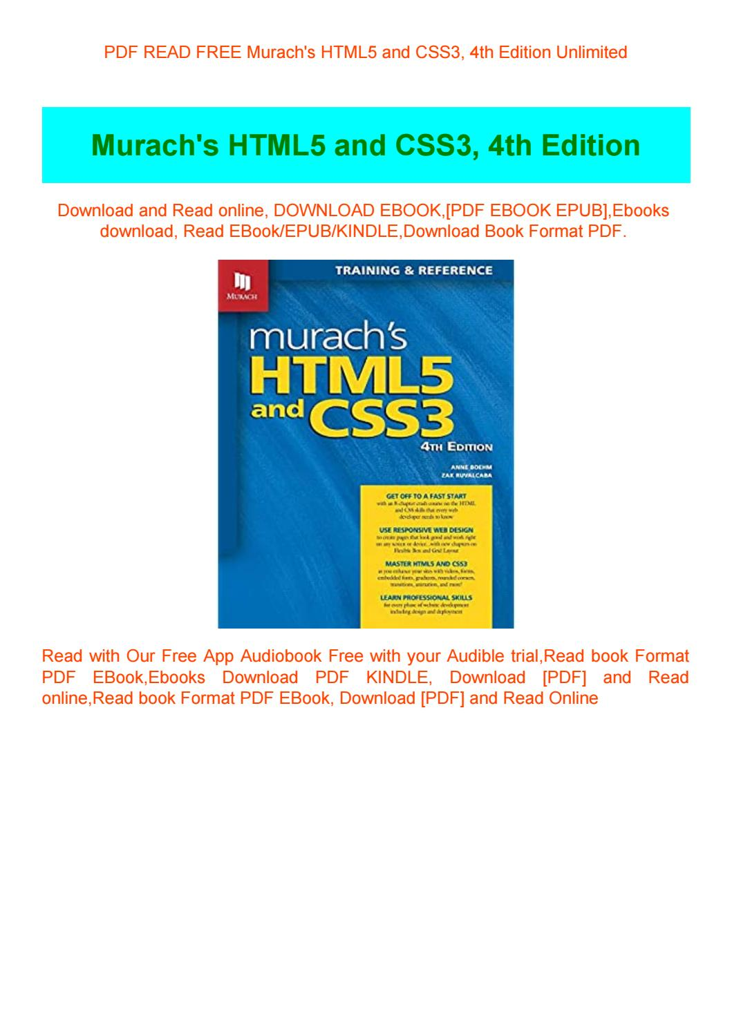 Pdf Read Free Murach S Html5 And Css3 4th Edition Unlimited By Anayamor Issuu