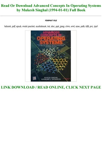 advanced concepts in operating systems pdf free download