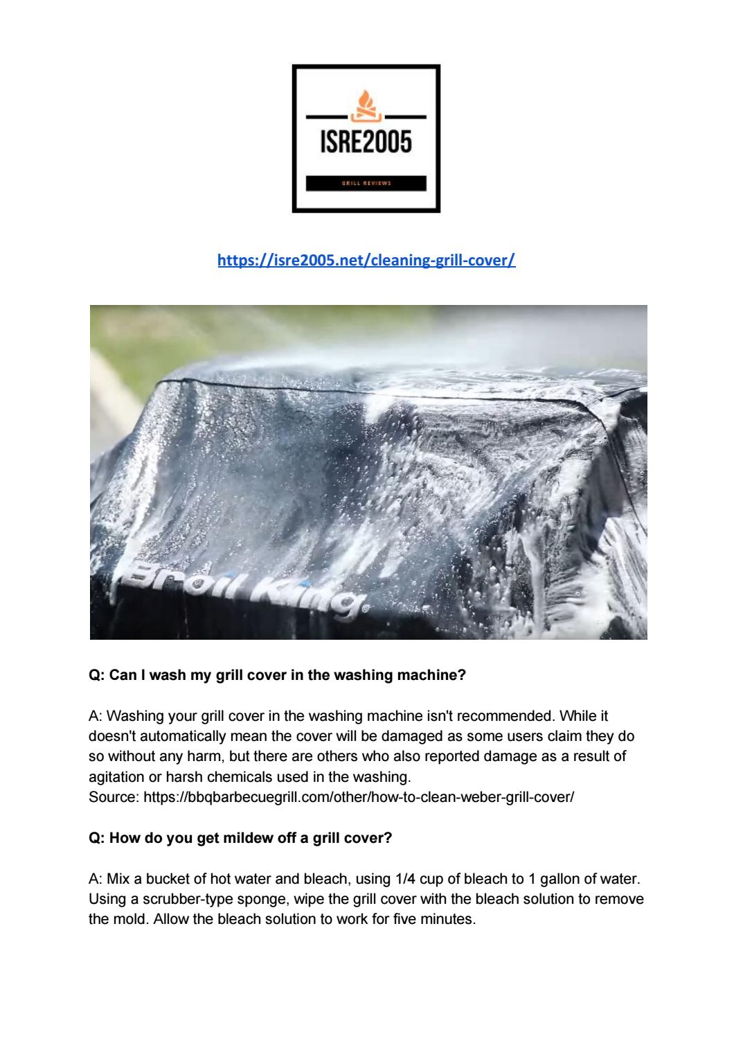 How To Clean Your Grill Cover By James Isre Issuu
