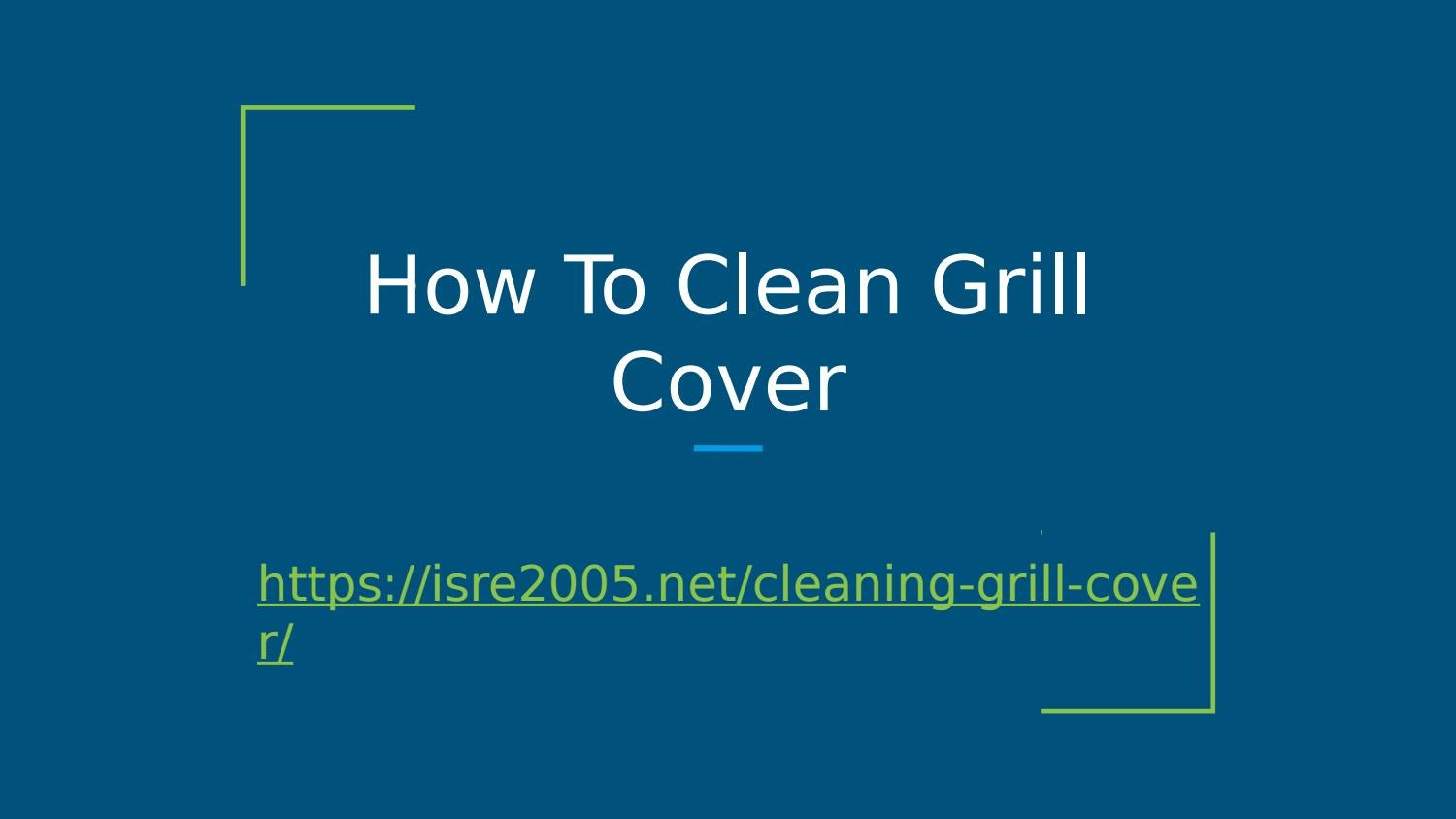 How To Clean Dirty Outdoor Barbecue Cover