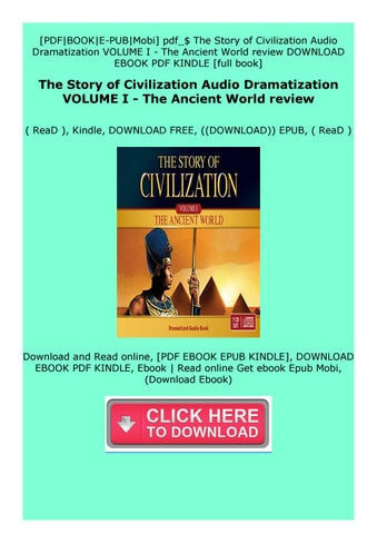 the story of civilization pdf free download