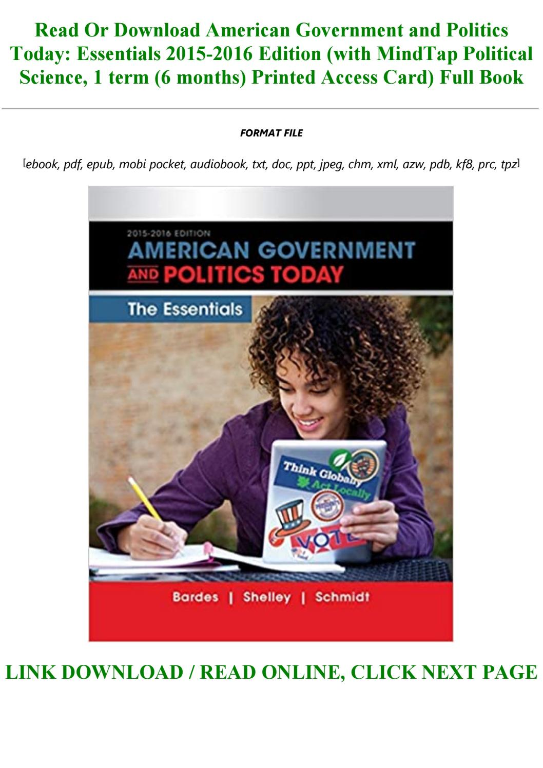 american government and politics today brief edition pdf download