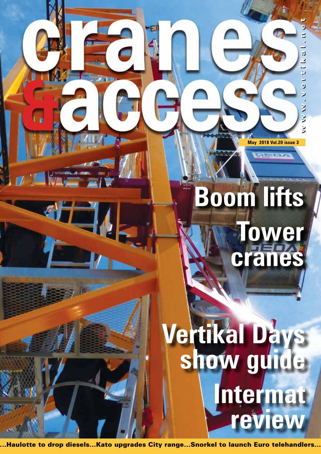 Cranes Access May 2018 By Vertikal Net Issuu