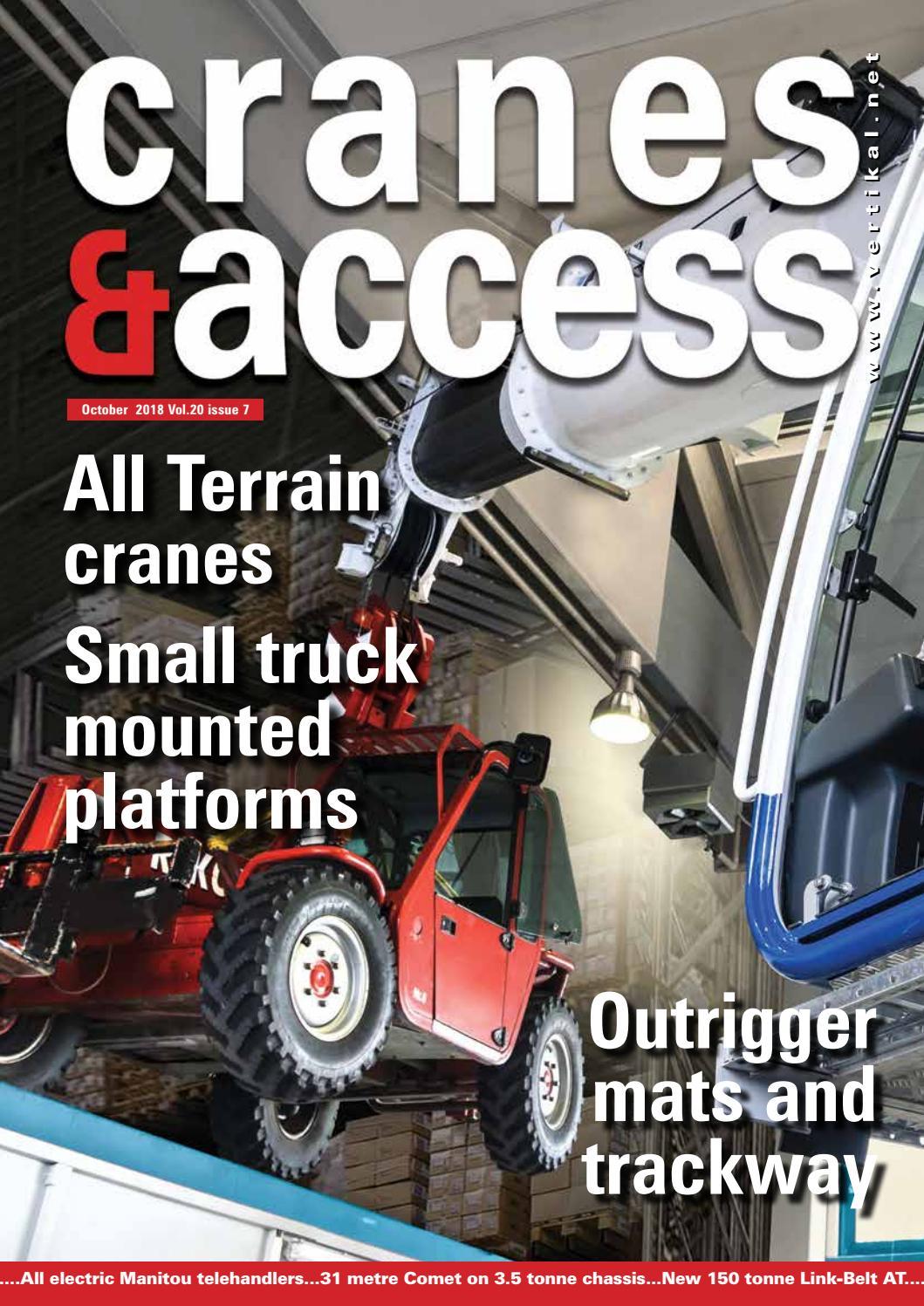 Cranes Access October 2018 By Vertikal Net Issuu
