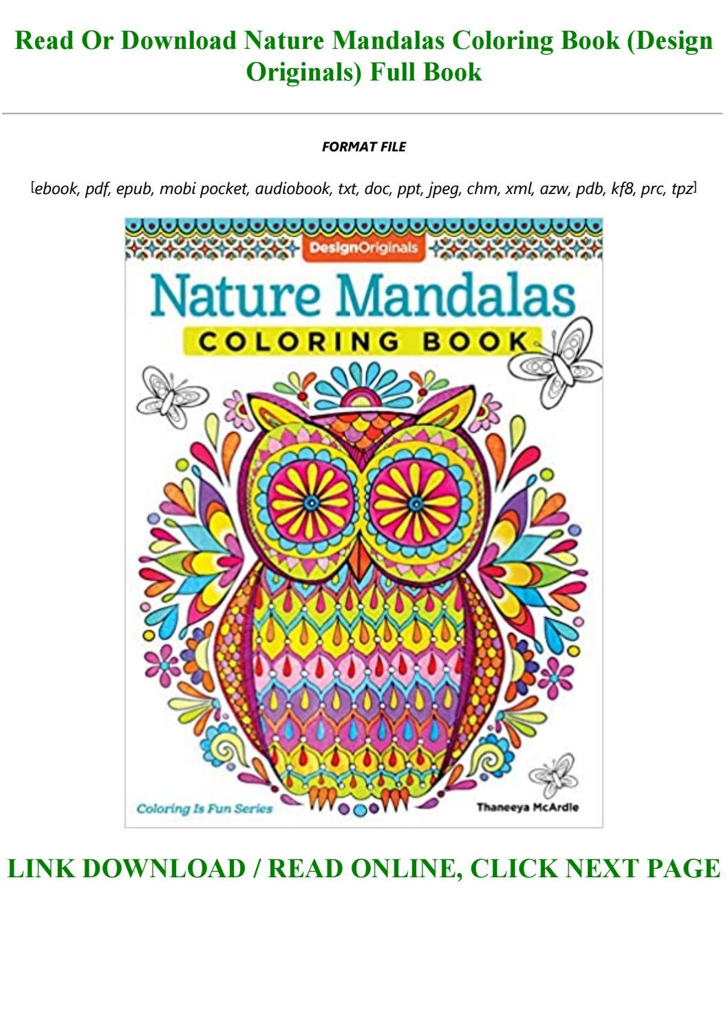 Read Pdf Nature Mandalas Coloring Book Design Originals Full Pdf Online By Garrettbradford1997 Issuu