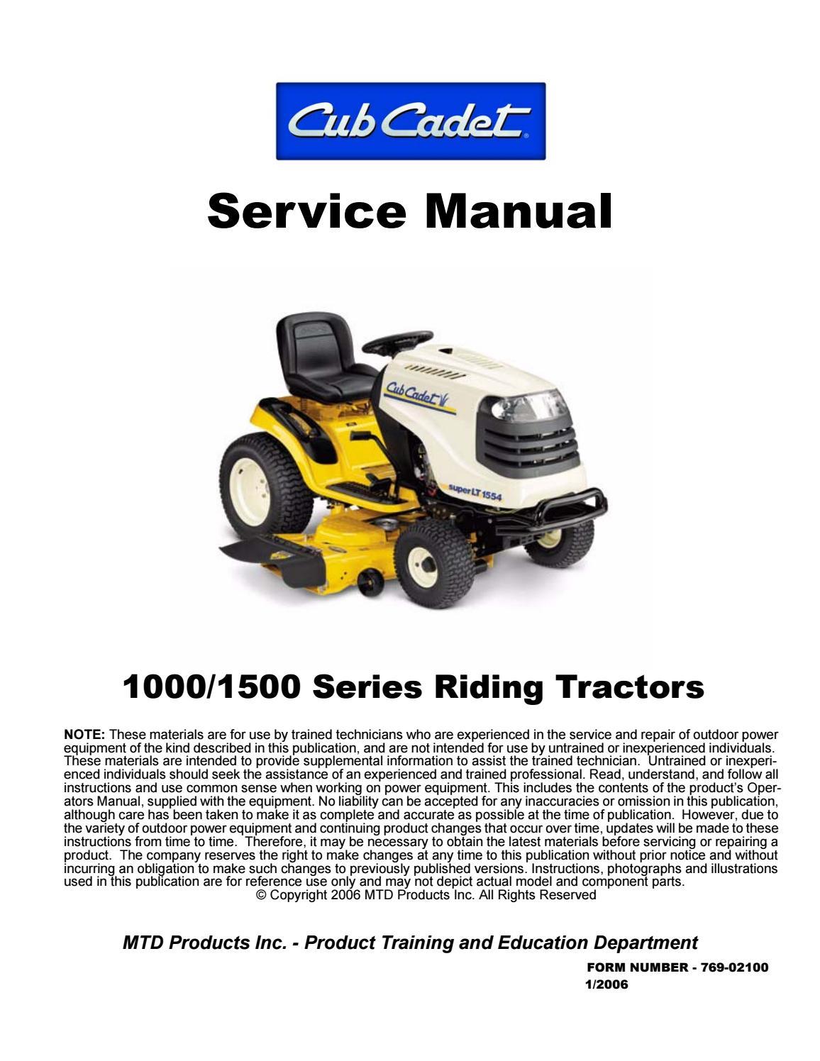 Cub Cadet LT 40 Lawn Tractor Service Repair Manual by fksuekmdm ...