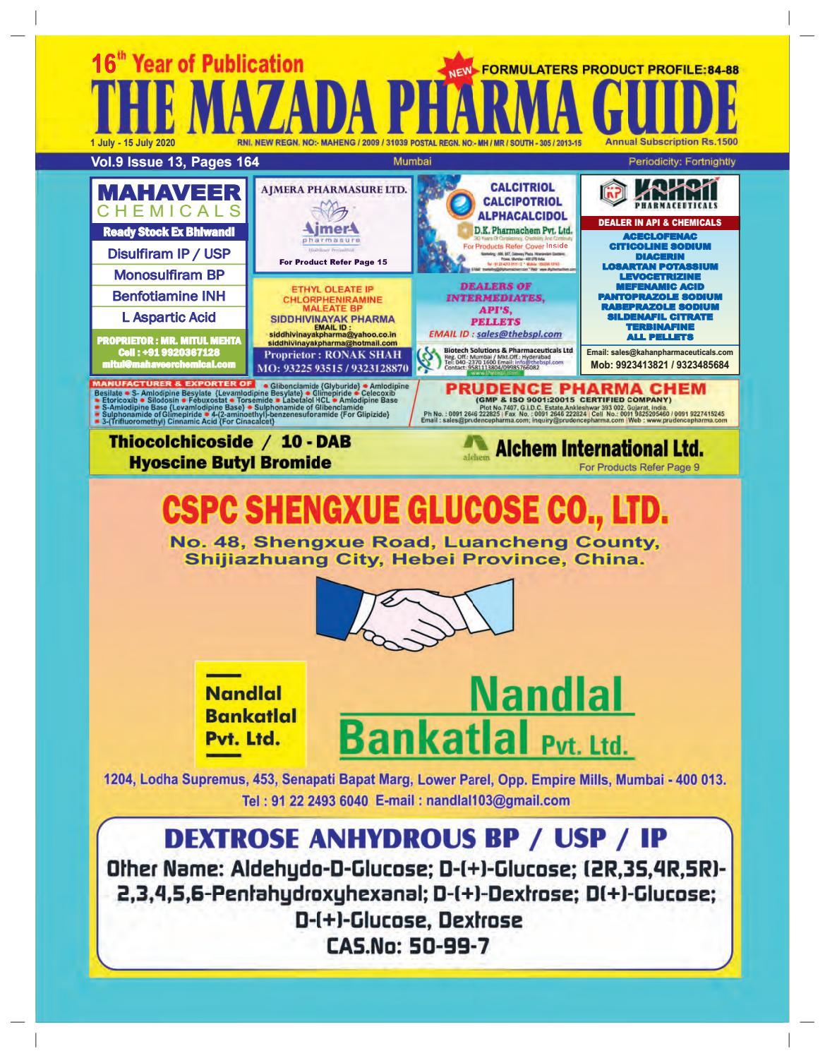 The Mazada Pharma Guide 1st July 2020 By The Mazada Pharma Guide
