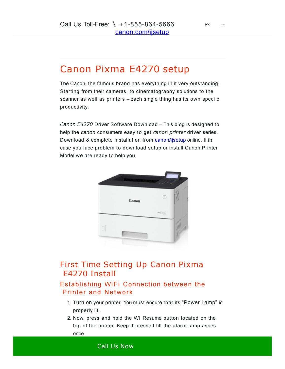 Easy To Resolve Canon Pixma E4270 Setup By Epsonprinter247 Issuu