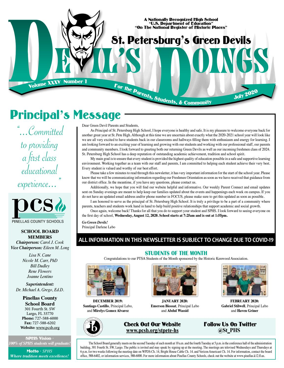 Saint Petersburg High School Newsletter by Academy Publishing, Inc. - issuu