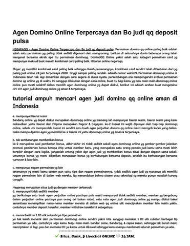 Agen Domino Qq Online Judi Terbesar Freechip Situs Judi Depo Pulsa Negaraqq By Agen Domino Online Negaraqq Bo Judi Qq 24 Jam Issuu