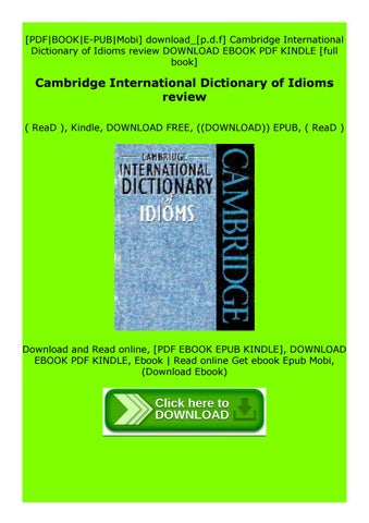 cambridge international dictionary of idioms pdf free download