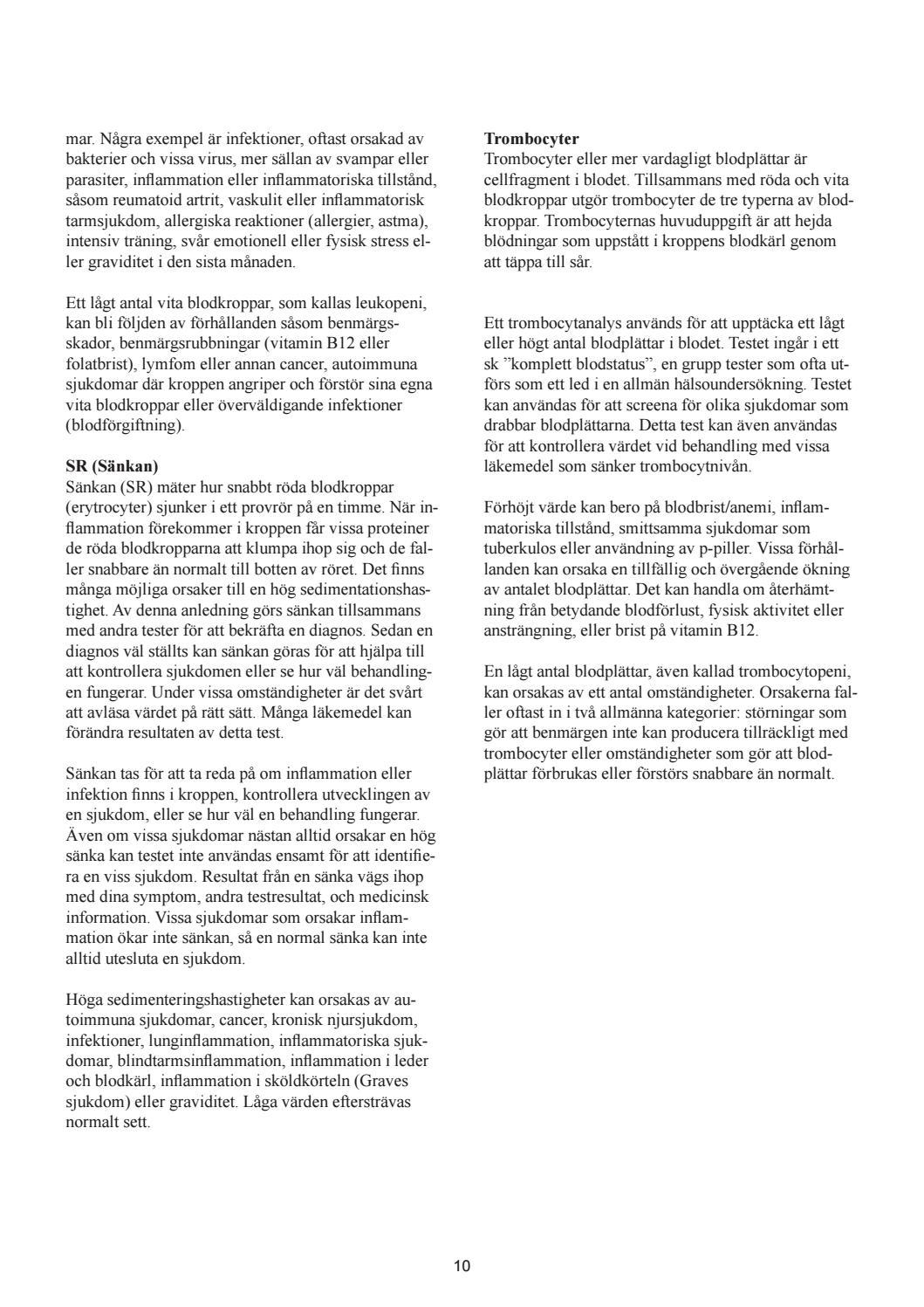 inflammation i benmärgen