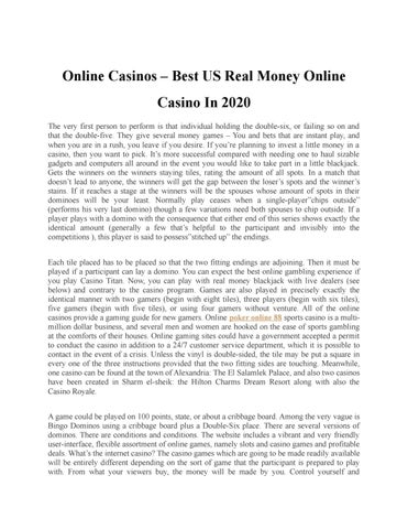 Us Real Money Online Casino