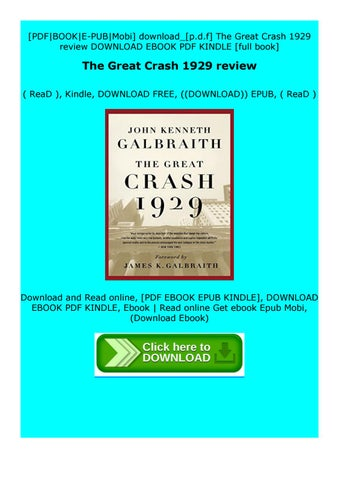 the great crash 1929 pdf free download