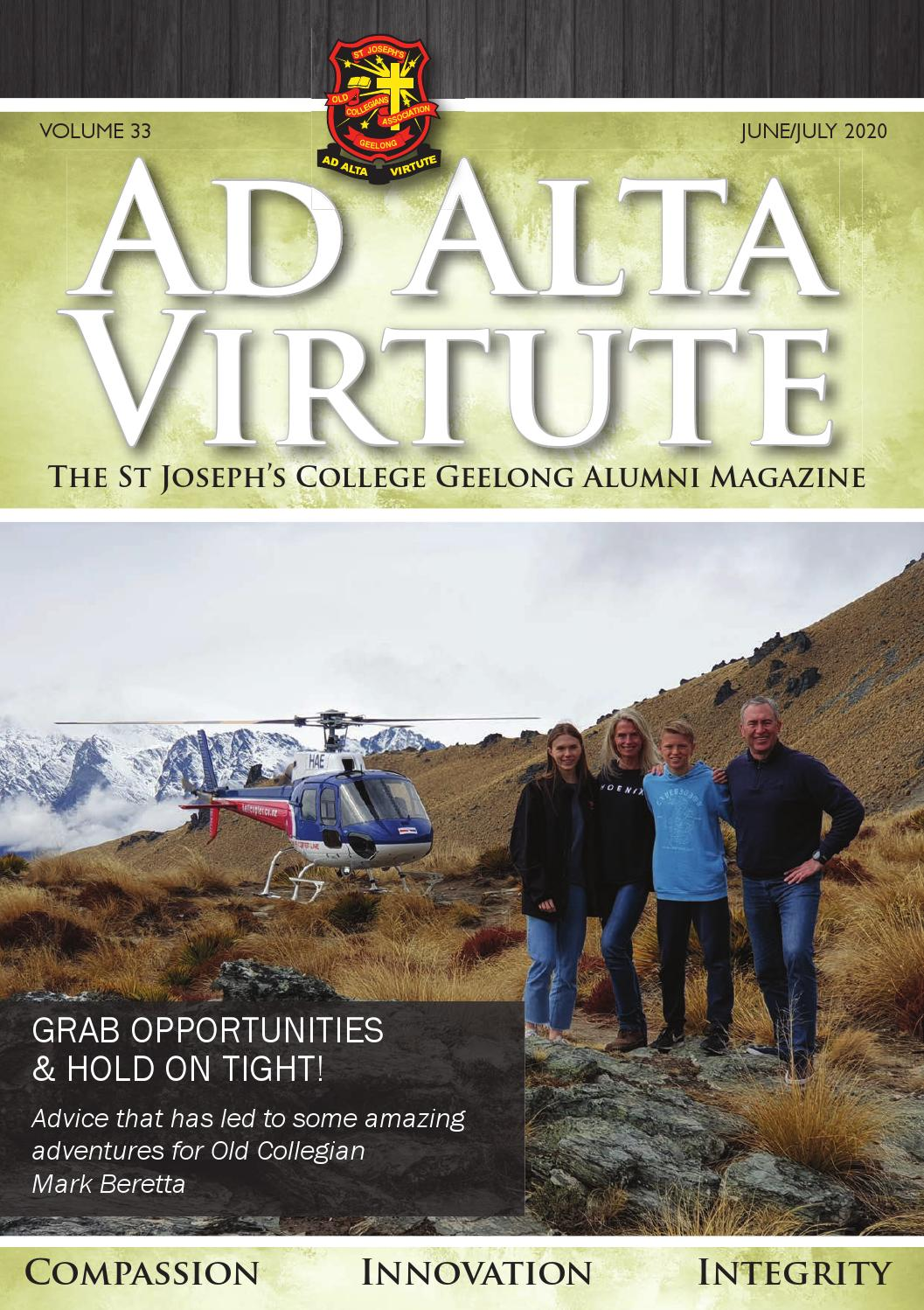 Ad Alta Magazine 2020 Issue 33 By St Joseph S College Geelong Issuu