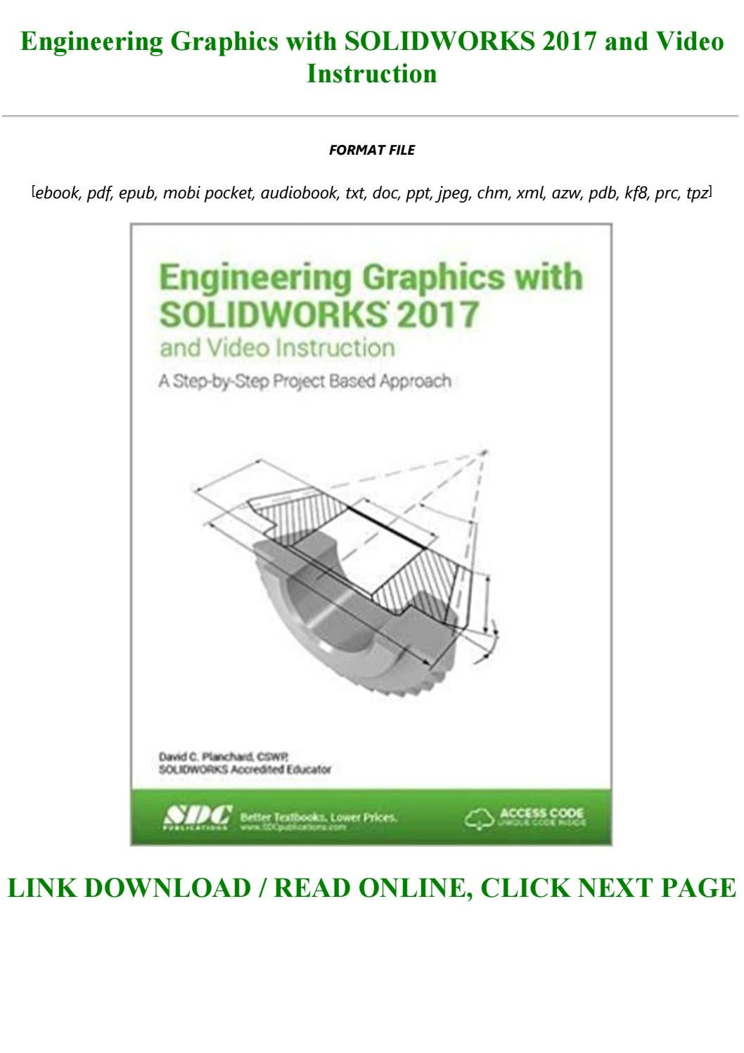 Best Pdf Engineering Graphics With Solidworks 2017 And Video Instruction Full By Ace4545 Issuu