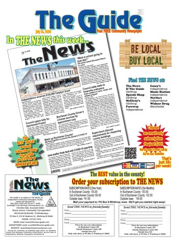 The Guide Serving The Buchanan County Area 7 16 2020 By The News Buchanan County Review Issuu