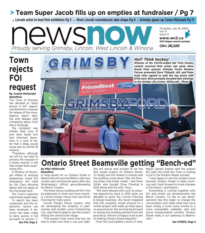Newsnow E Edition July 16 2020 By Newsnow Niagara Issuu