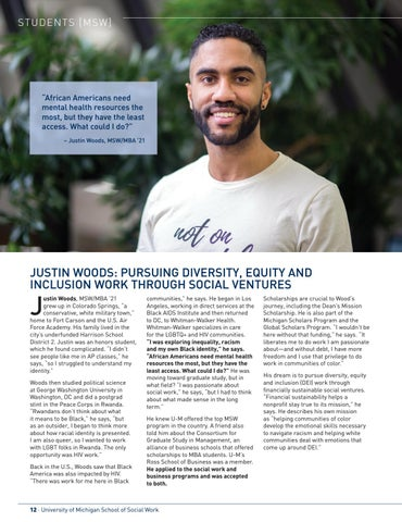Page 14 of MSW Student Profile: Justin Woods