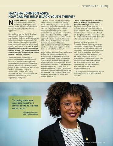 Page 15 of PhD Student Profile: Natasha Johnson