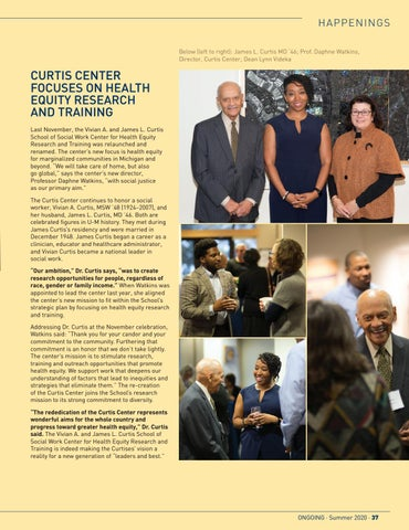 Page 39 of Curtis Center Focuses on Health Equity