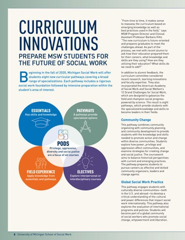 Page 8 of Curriculum Innovations Prepare MSW