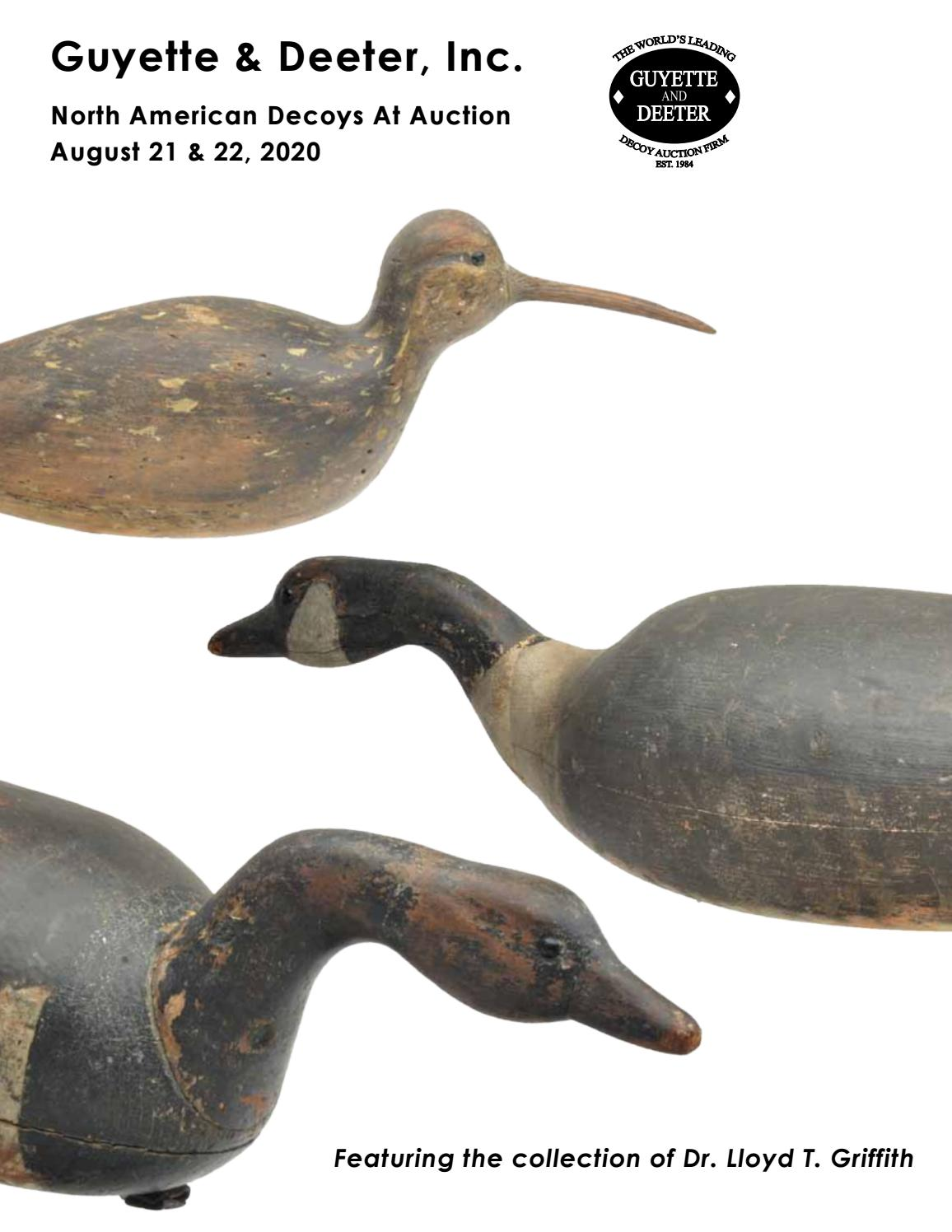 North American Decoys At Auction August 21 22 2020 By Guyette Deeter Issuu
