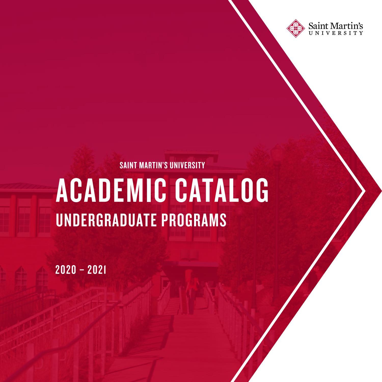 2020 2021 Saint Martin S University Undergraduate Catalog By Saint Martin S University Archives Issuu