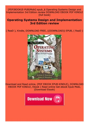 Paperback Operating Systems Design And Implementation 3rd Edition Review By Jyfdscazsed Issuu