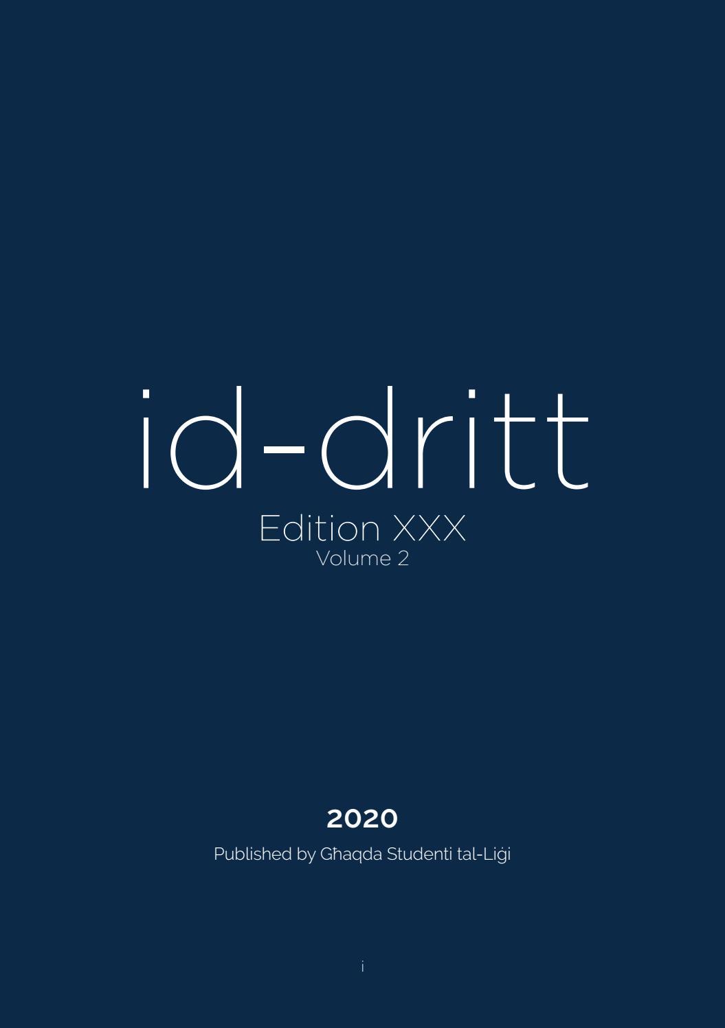 Id Dritt Xxx Volume 2 By Għsl Publications Issuu