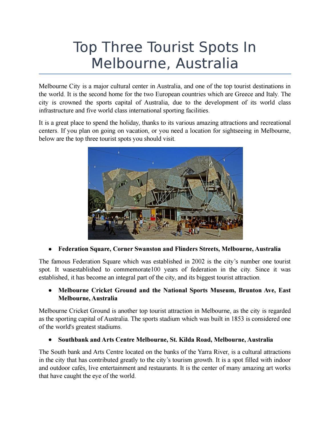 Tourist Spots Near Melbourne