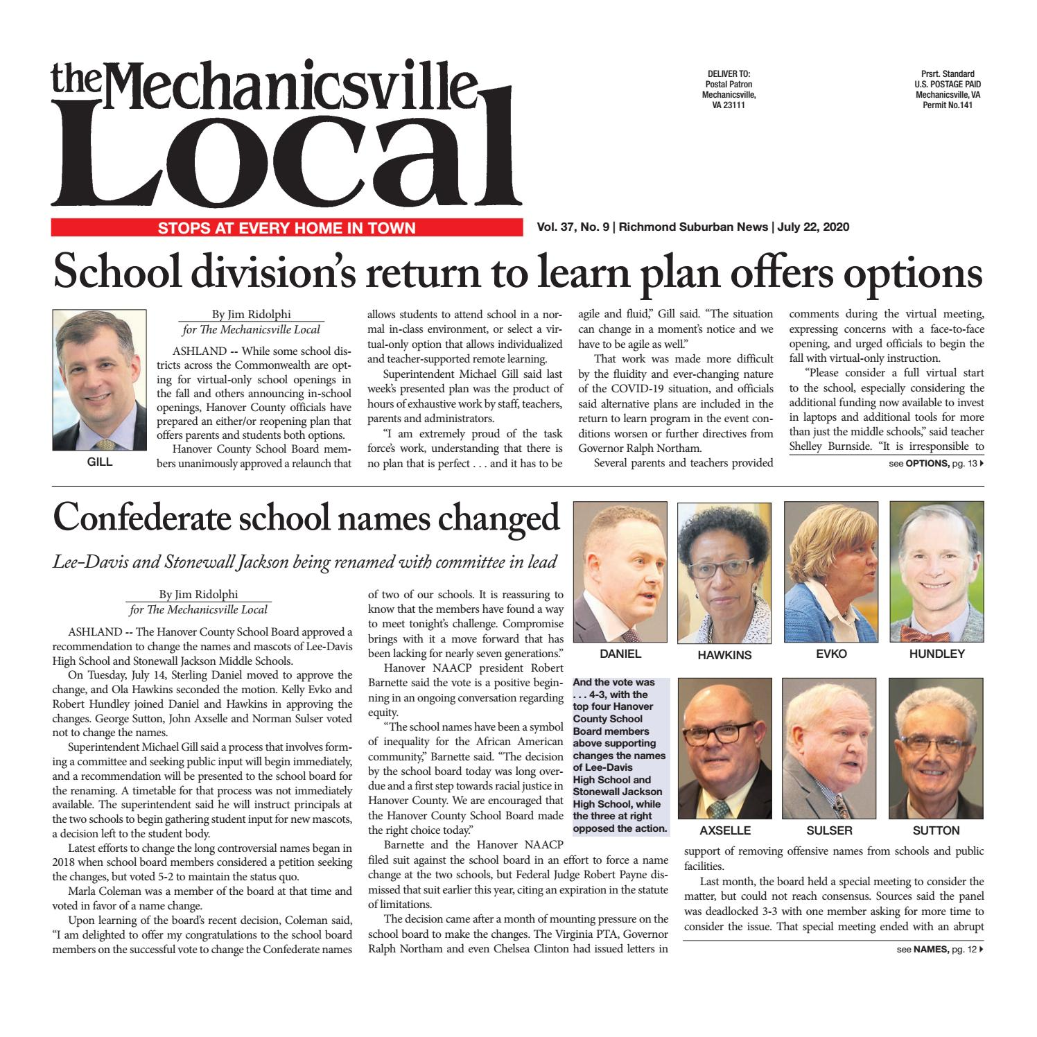 The Mechanicsville Local 07 22 2020 By The Mechanicsville Local Issuu