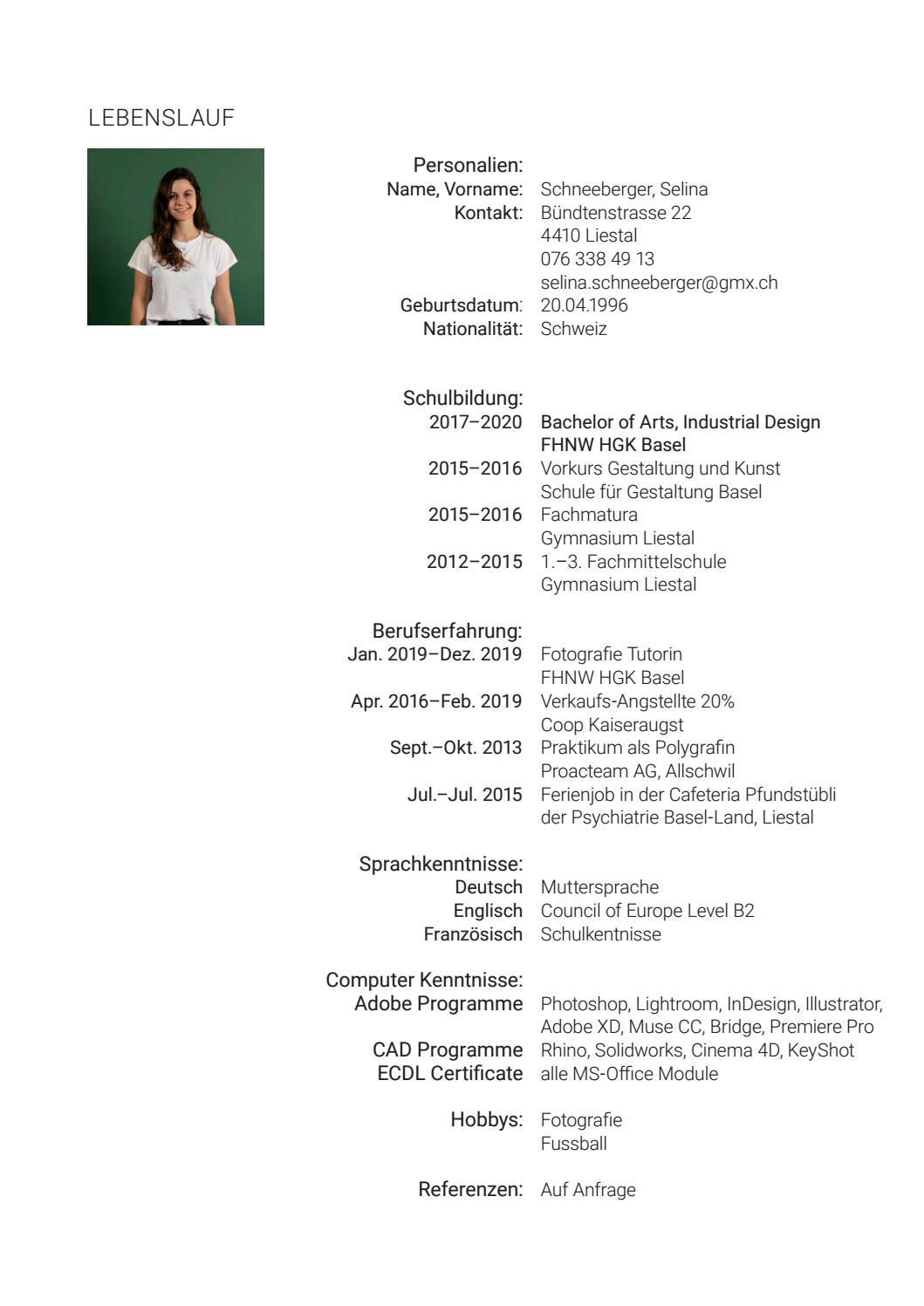 Lebenslauf Selina Schneeberger by Selina Schneeberger   issuu