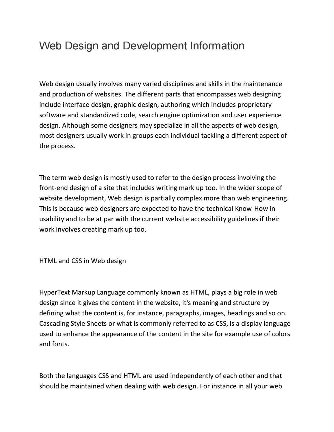 Web Design And Development Information By S4g2webdesign Issuu