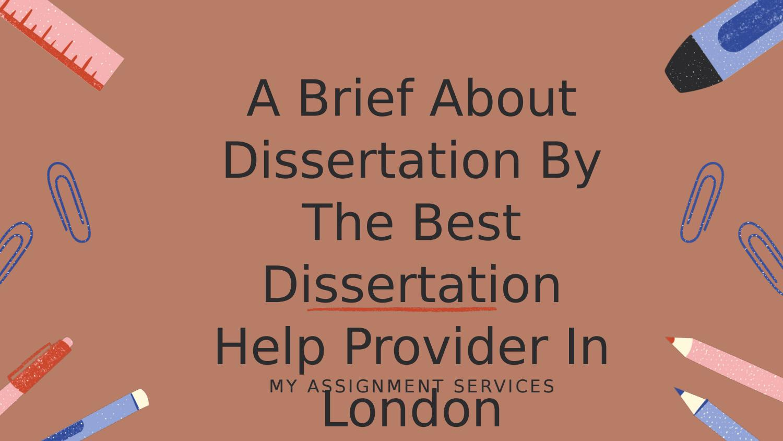 Dissertation provider dissertation abstract template
