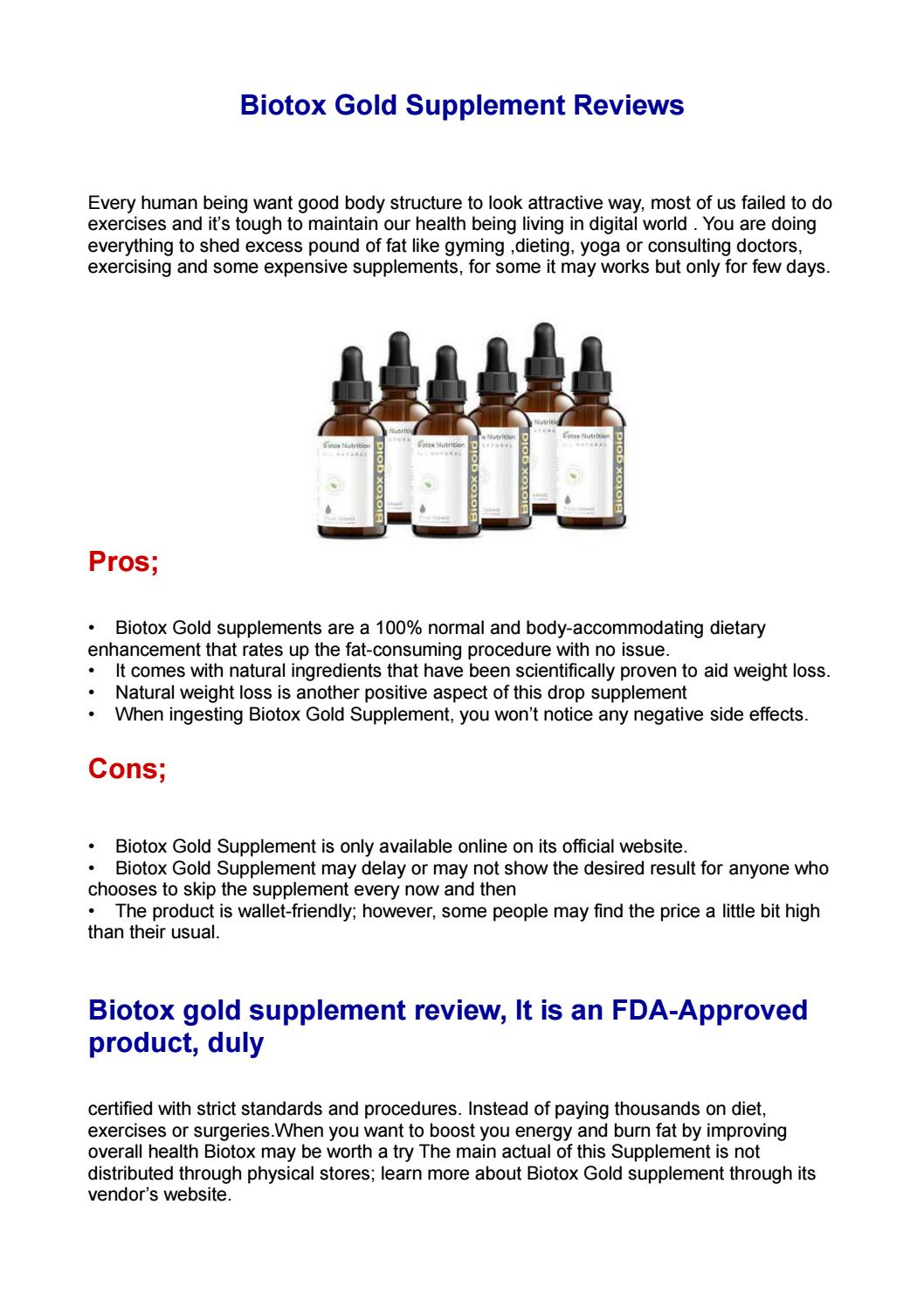 Biotox Gold Supplement Reviews By Biotoxgold