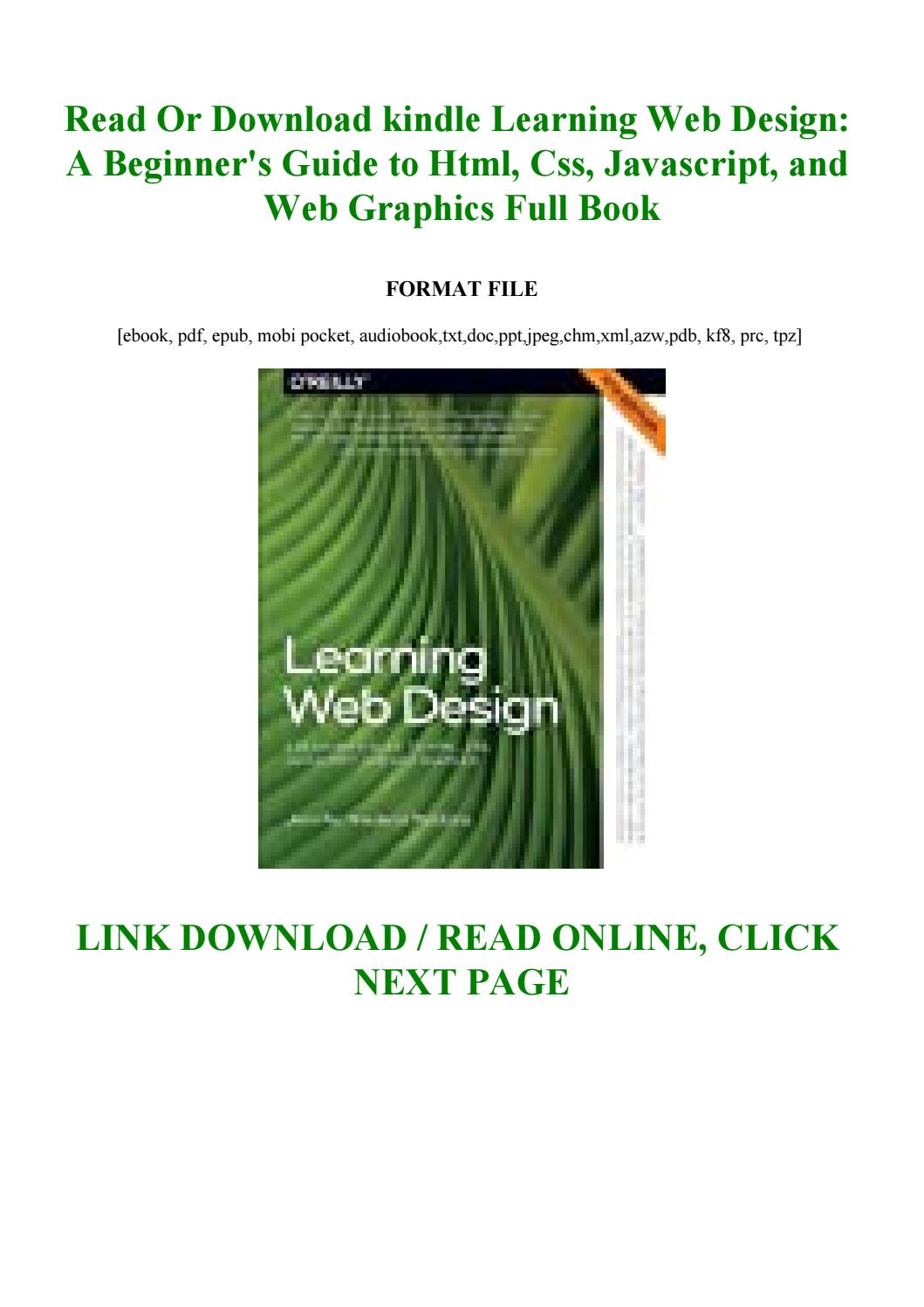 Kindle Learning Web Design A Beginner S Guide To Html Css Javascript And Web Graphics By Ertesdgzxvc Issuu
