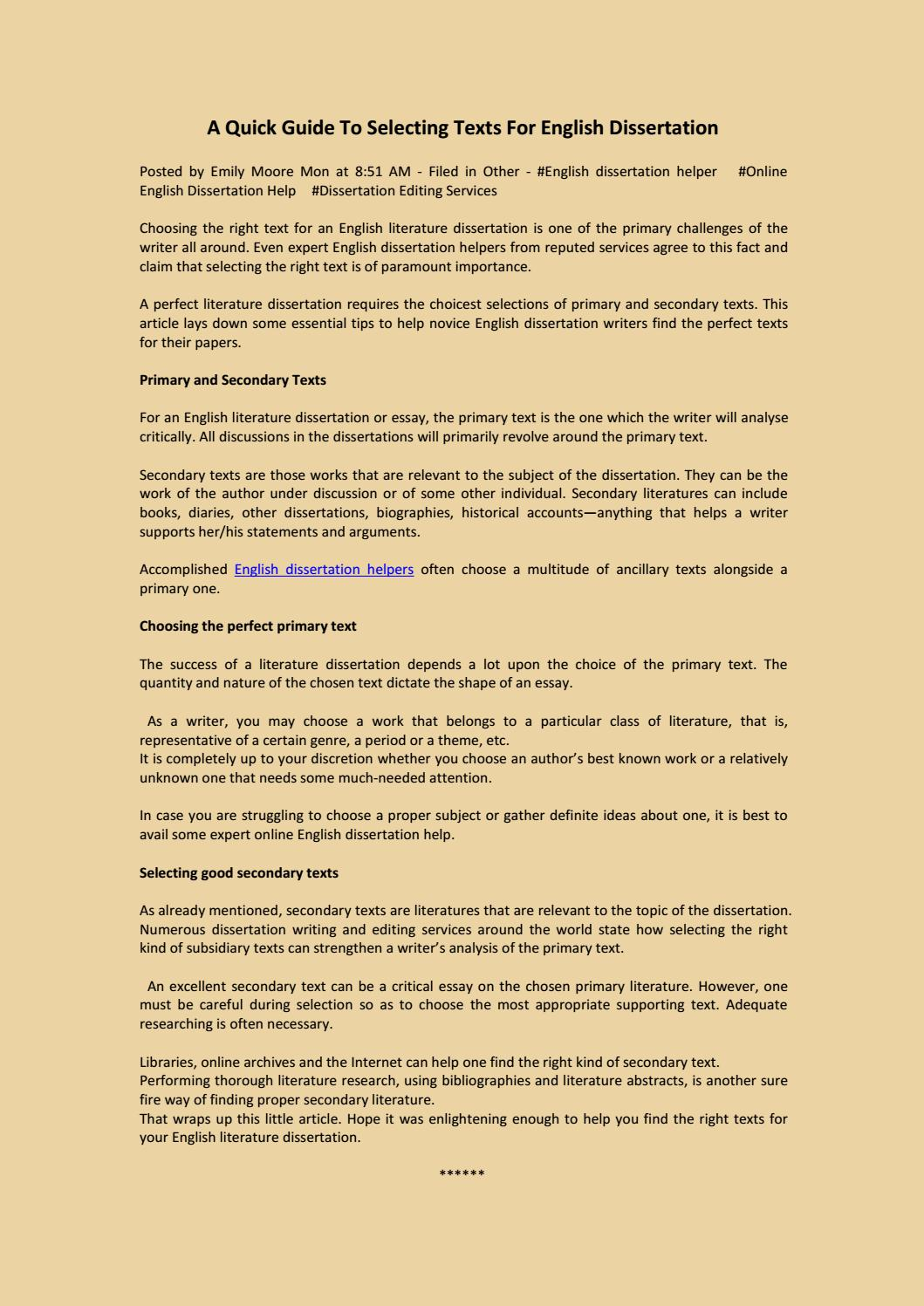 Help writing world literature dissertation be punctual and responsible essay