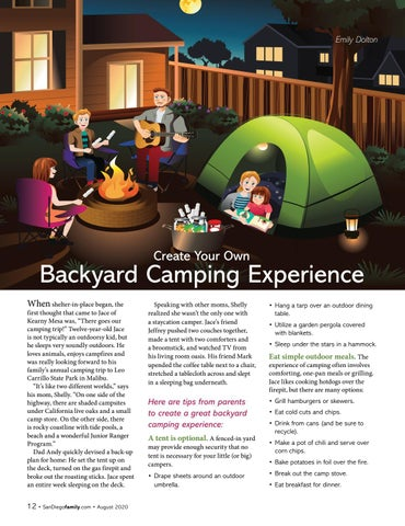 Page 12 of Create Your Own Backyard Camping Experience