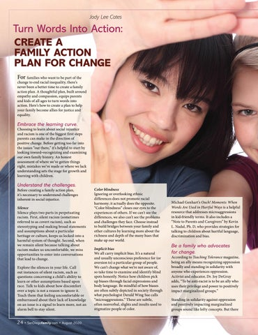 Page 24 of Turn Words Into Action: Create a Family Action Plan for Change