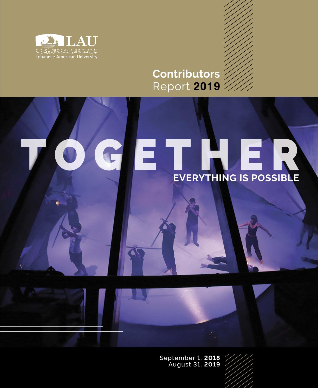 Contributors Report 2019 By Lebanese American University Issuu